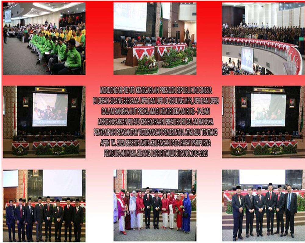 Hut RI Ke 74 Mendengar Pidato Kenegaraan Presiden Republik Indonesia Di Depan Sidang Bersama DPR