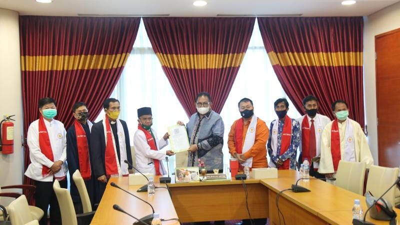 DPP FKIB (FORUM KEBHINEKAAN INDONESIA BERSATU) BERAUDIENSI DENGAN KETUA DPRD PROVINSI SUMATERA UTARA